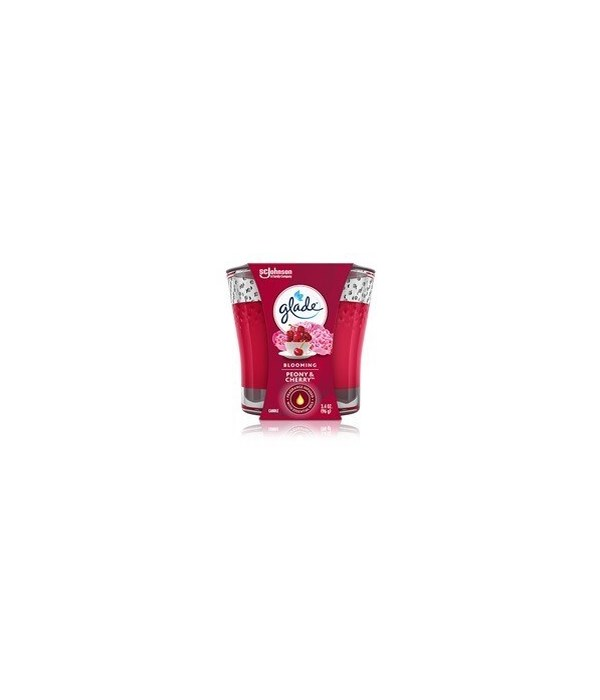 GLADE SCENTED CANDLES PEONY&CHERRY 6/3.4OZ(76962)