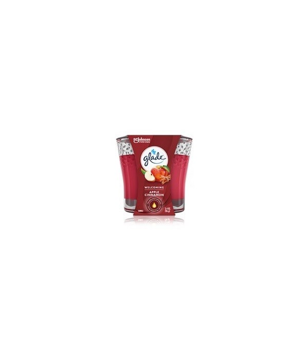 GLADE SCENTED CANDLES APPLE&CINNAMON 6/3.4OZ(76947)