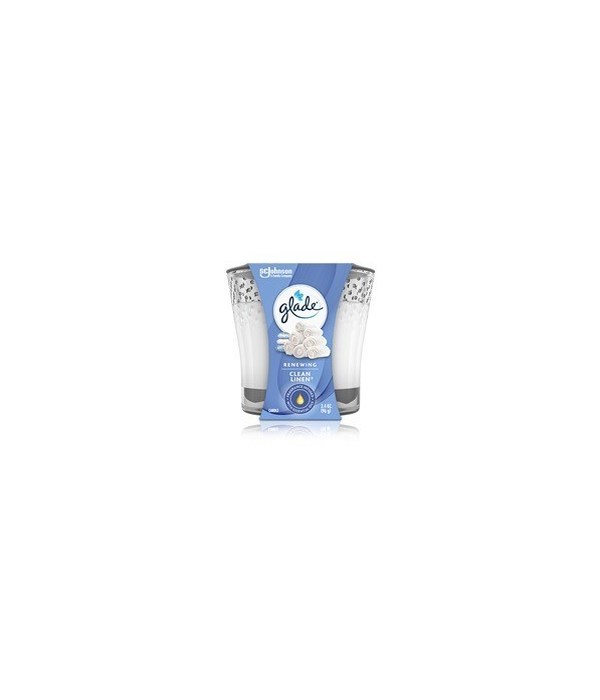 GLADE SCENTED CANDLES CLEAN LINEN 6/3.4OZ(76958)