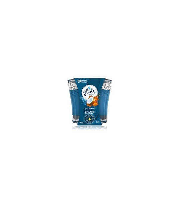 GLADE CANDLE VOLCANIC COCONUT 6/3.4OZ