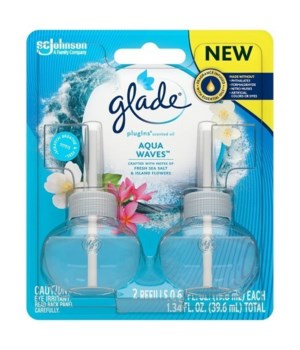 GLADE PLUGINS OIL AQUA WAVES 6/1.34OZ