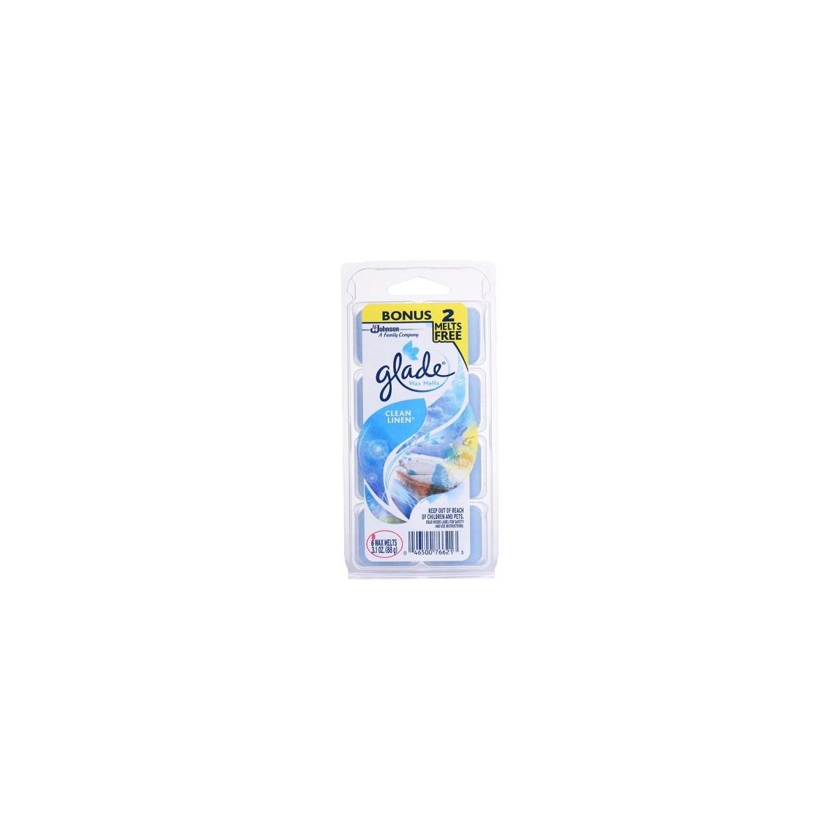 GLADE WAX MELT REFILL CLEAN LINEN 8/8CT (00150)