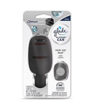 GLADE CAR AIRFRESHNER STATER+REFILL NEW CAR SCENT 6/.11OZ