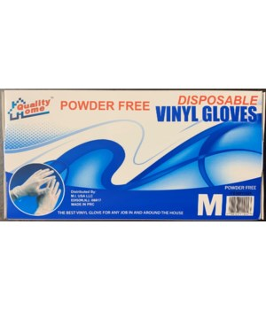 VINYL GLOVES M 10/100CT