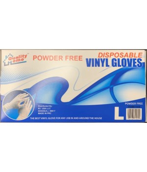 VINYL GLOVES L 10/100CT