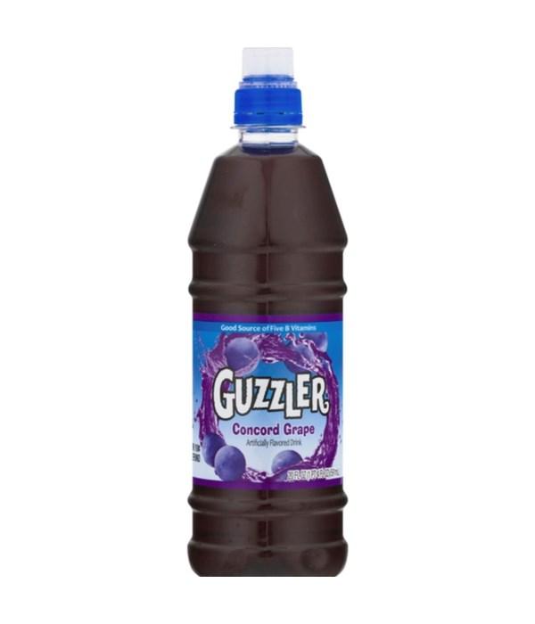 GUZZLER CONCORD GRAPE 24/20OZ