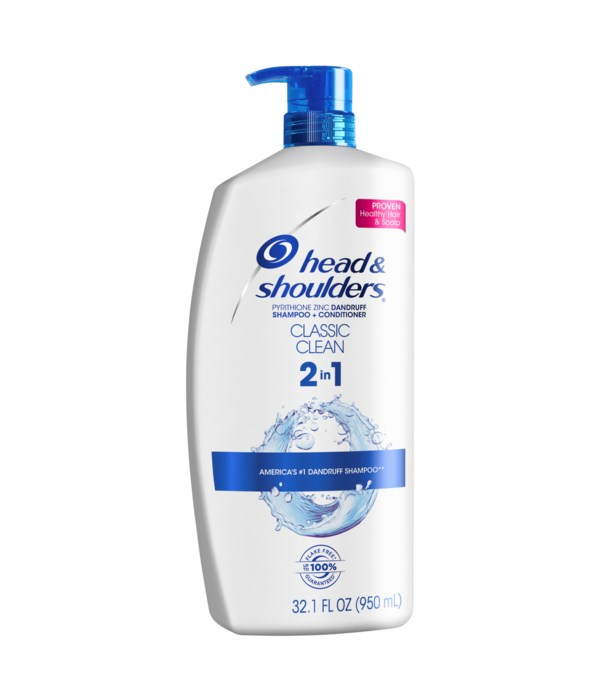 HEAD&SHOULDER 2N1 CLASSIC CLEAN 4/32.1OZ