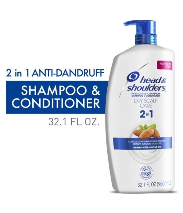 HEAD&SHOULDER 2N1 DRY SCALP 4/32.1OZ