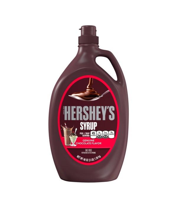 HERSHEY CHOCOLATE SYRUP 12/48OZ
