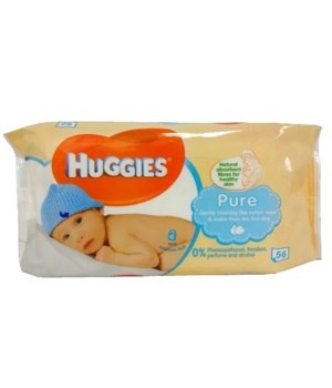 HUGGIES BABY WIPES PURE SKIN 10/56CT(24341110)