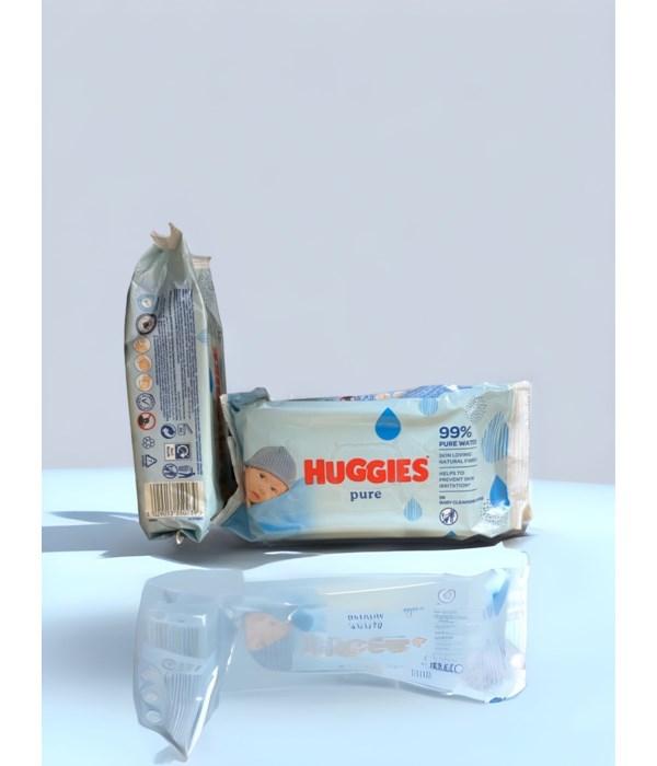 HUGGIES BABY WIPES PURE SKIN 10/56CT