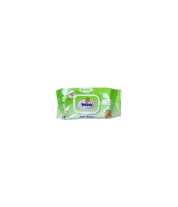 WOODS BABY WIPES FLOWERS 12/72CT