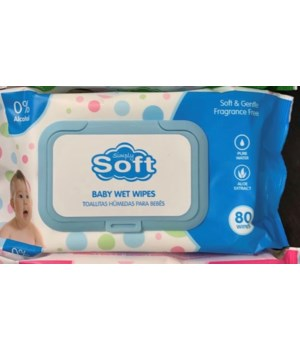 BABY WIPES BLUE 24/80CT