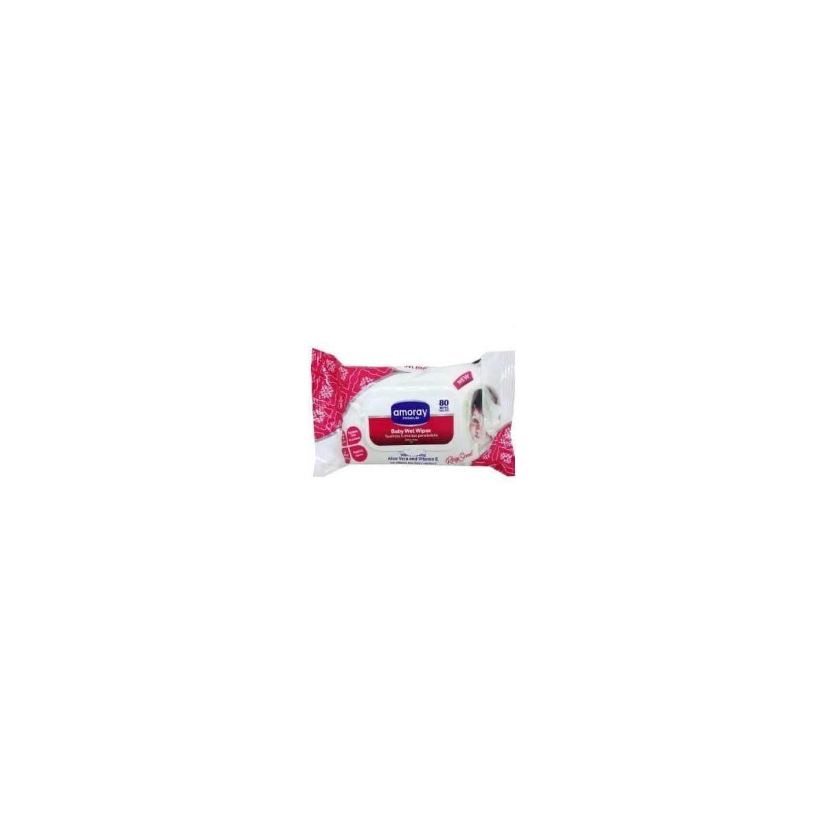 BABY WIPES ROSY SCENT 24/80CT