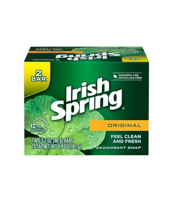 IRISH SPRING ORIGINAL(3.2OZ) 18/2PK