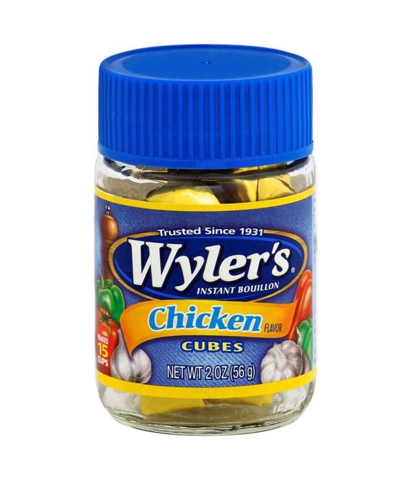 WYLER CHICKEN CUBES 24/2OZ