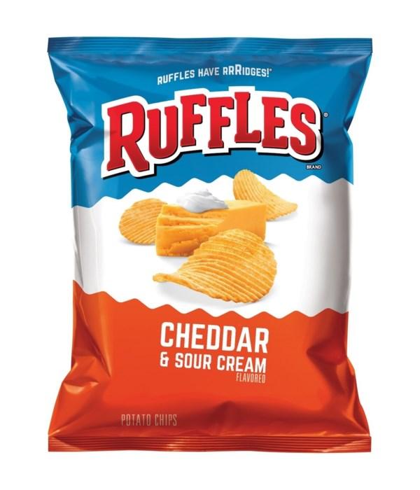 RUFFLES CHEDDAR&SOUR CREAM 64/1.5OZ