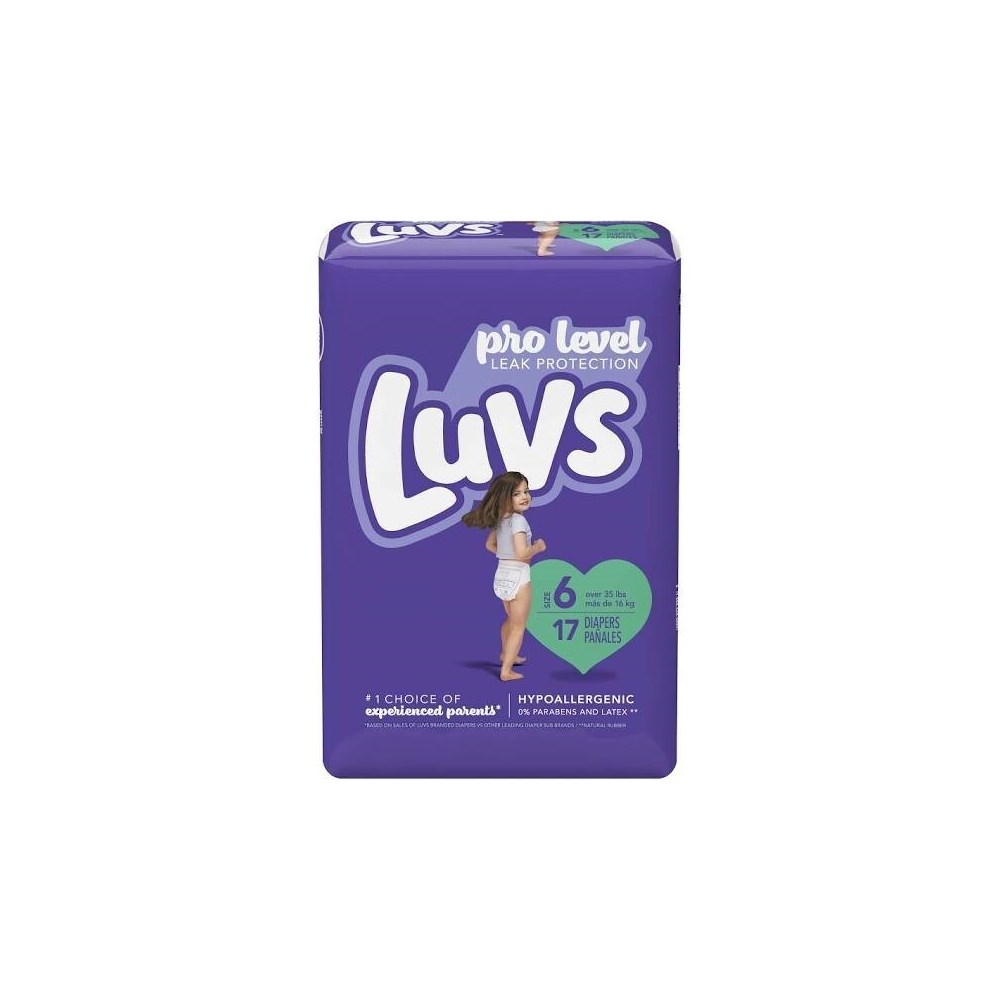 LUVS DIAPERS CONV PACK #6 4/17CT