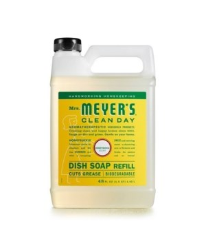 Mrs. MEYERS DISH SOAP REFILL HONEYSUCKLE 6/48OZ