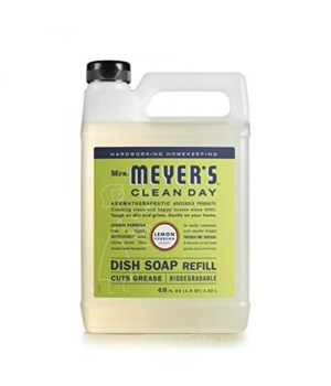 Mrs.MEYE*R LEMON DISH SOAP REFILL 6/48OZ