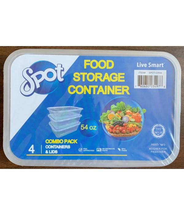 54OZ FOOD STORAGE CONTAINER 16/4CT