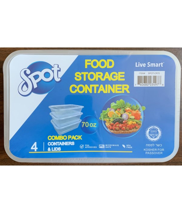 70OZ FOOD STORAGE CONTAINER 12/4PK