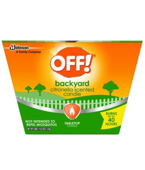 OFF BACKYARD CITRONELLA SCENTED CANDLE 6/18OZ