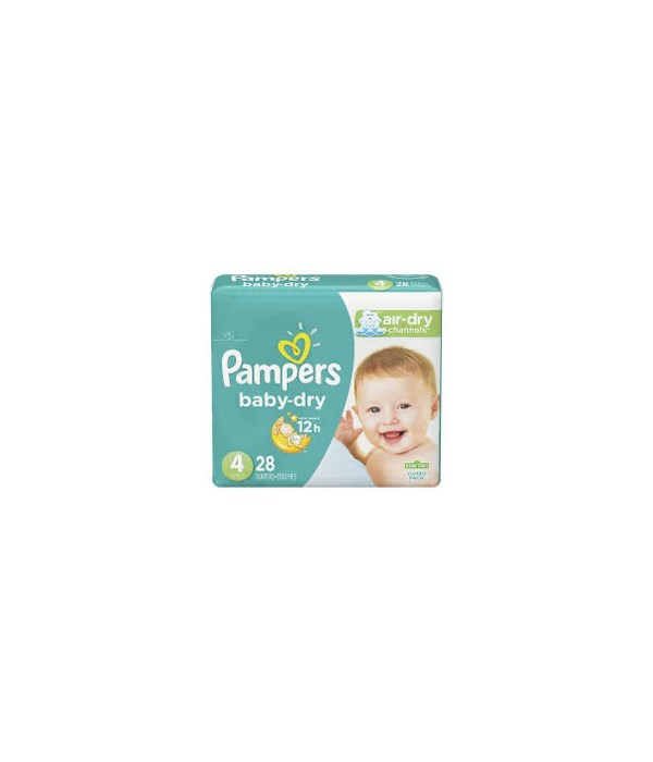 PAMPERS BABY DIAPERS 4/28CT #4
