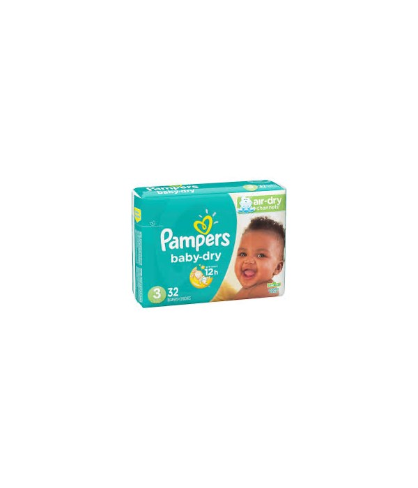 PAMPER BABY DIAPERS 4/32CT #3