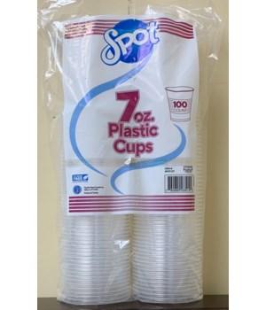 "7"" SPOT PLASTIC CUPS 12/100CT"