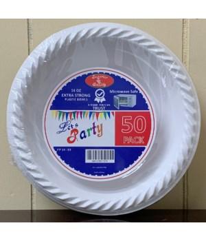 """PREMIUM PLASTIC BOWL 14"""" 24/50CT"""