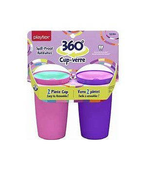 PLAYTEX GIRL CUP SPILL-PROOF 12M+ 6/2PK