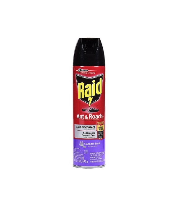 RAID ANT&ROACH KILLER LAVANDER 12/17.5OZ (73963)