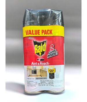RAID ANT&ROACH KILLER FRAGANCE FREE 12/17.5OZ (74916)