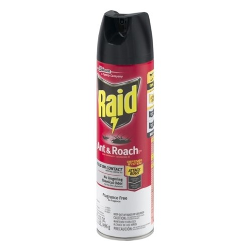 RAID ANT&ROACH KILLER FRAGANCE FREE 12/17.5OZ (74916)