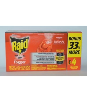 RAID FOGGER CONCENTRATED DEEP REACH ANT&ROACH 8/4PK(4/1.5OZ)(74251)
