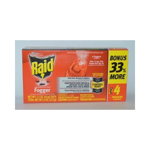 RAID FOGGER CONCENTRATED DEEP REACH ANT&ROACH 8/4PK(4/1.5OZ)(74251)