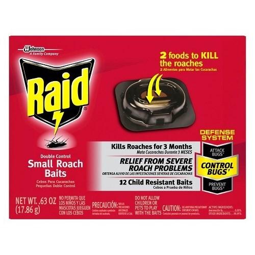 RAID SMALL ROACH DOUBLE CONTROL BAITS 6/12CT(15745)
