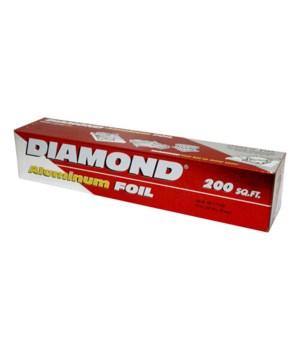 DIAMOND ALUMINUM FOIL 12/200SQ.FT.