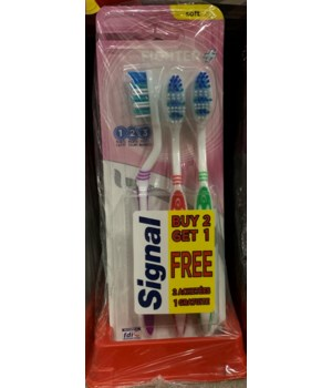 SIGNAL TOOTHBRUSH FIGHTER SOFT 12/3PK