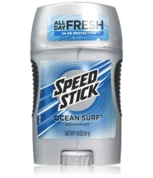 SPEED STICK DEODORANT OCEAN SURF 12/1.8OZ
