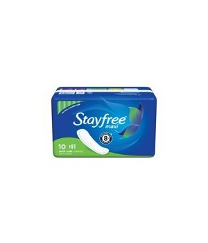 STAYFREE MAXI SUPER PADS 12/10CT
