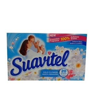 SUAVITEL DRYER SHEETS FIELD FLOWERS 15/20CT(39197)