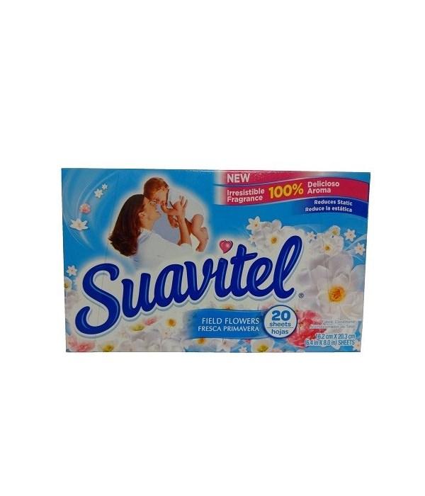 SUAVITEL DRYER SHEETS FIELD FLOWERS 15/20CT(39197)
