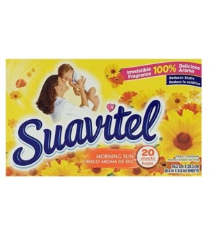 SUAVITEL DRYER SHEETS MORNIG SUN 15/20CT(3550A)