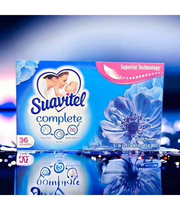 SUAVITEL DRYER SHEETS FIELD FLOWERS 12/36CT(39164)
