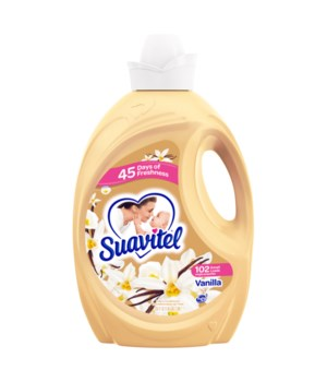 SUAVITEL FAB SOFTNER HEAVENLY VANILLA 4/135OZ