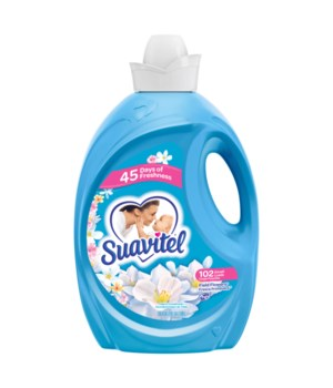 SUAVITEL FABRIC SOFTNER FIELD FLOWERS 4/135OZ(139371)