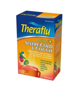 THERAFLU DAYTIME SEVERE COLD&COUGH 12/6CT
