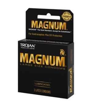 TROJAN MAGNUM LUBRICATED 12/3PK